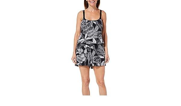 f97fd95f26de Maxine Womens Linework Swim Romper at Amazon Women s Clothing store