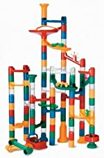 Marble Run: 123 Piece Set (103 Durable Pieces and 20 Marbles)