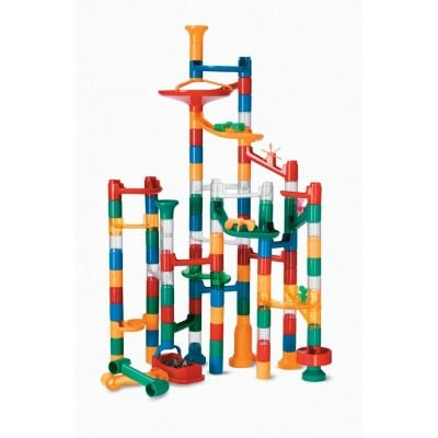Marble Run: 123 Piece Set (103 durable pieces and 20 marbles) EXCLUSIVELY AT MINDWARE! (Games Plastic For Marbles)