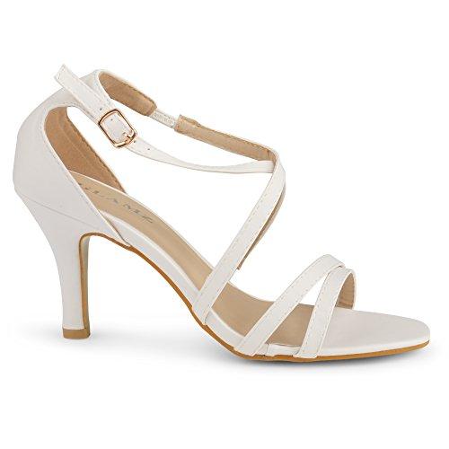 GLAMZ Sandalias Para blanco Mujer Mujer RqR6Ur0
