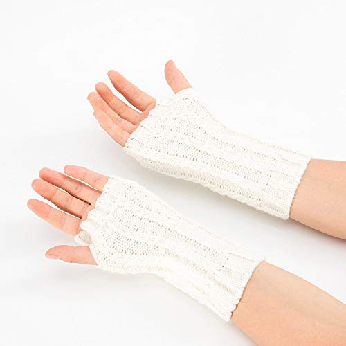 NUWFOR Ladies Sexy Seduction Leather Lace Appeal Gloves?White,21x7cm/8.3x2.8? by NUWFOR (Image #2)