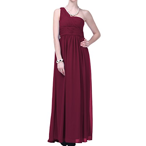 Faship One Shoulder Draped Long Evening Gown Formal (Draped One Shoulder Dress)