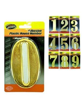 プラスチック家Numbers with Adhesive Back – ケースof 45   B00EZNBZQ6