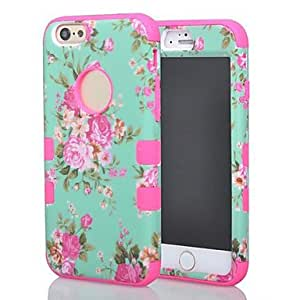 YULIN Orchid PC Back Cover for iPhone 6 Plus (Assorted Colors) , Blue
