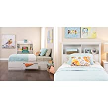 Prepac  Monterey Twin Bed and Headboard - White