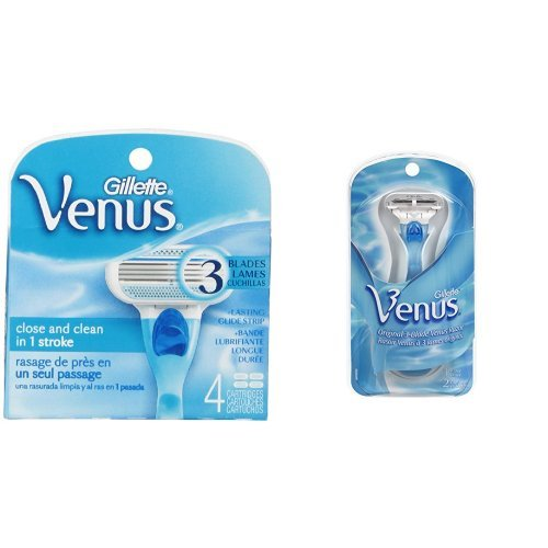 Price comparison product image Gillette Venus Women's Razor Bundle (1 Razor Blade and 6 Razor Blade Refills)