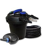 SunSun Kit Filtro estanque presión 1000011W UVC clarificador 40W bajo consumo tipo bomba 25m tubo