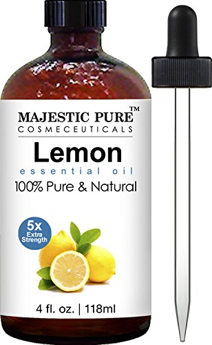 Majestic Pure Lemon Essential Oil for Aromatherapy, 5x Extra Strength, 4 fl. Oz