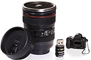 Camera Lens Coffee Mug & 16gb USB Flash Drive (24-105mm) Ultimate Photographer Gift Set