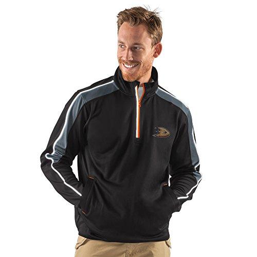 NHL Anaheim Ducks Men's Synergy Half Zip Pullover Jacket, XX-Large, Black