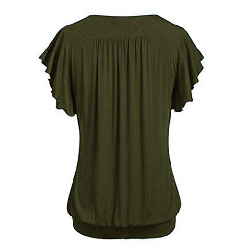 HLHN HLHN Verde Donna Camicia Camicia W71cpB7Yq