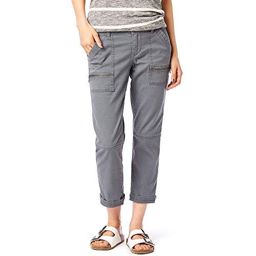 UNIONBAY Women's Norma Stretch Twill Zipper Detail Crop Capri, Light Galaxy Grey, 12