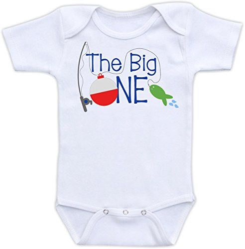 Big One - Fishing First Birthday (18M Short Sleeve Bodysuit, Boy Scheme)
