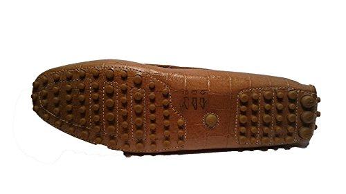 coccodrillo Stampa para mujer Shoe Mocasines beige Piel Car de qA1wxz