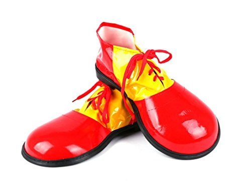 Halloween Clown Shoes Jumbo Large Clown Shoes Halloween Costumes Accessories for Adults-Red -