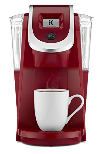 Keurig K250 Single Serve, Programmable K-Cup Pod Coffee Maker with strength control, Imperial Red