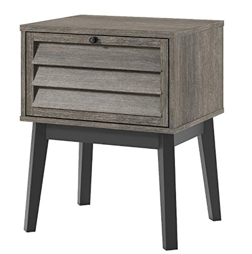 41se7xbkySL - Ameriwood Home 5993196COM Vaughn Nightstand, Gray Oak