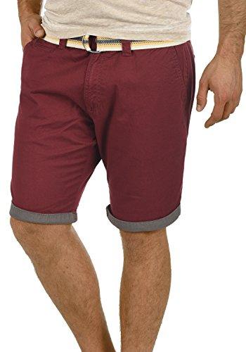 Short Chino Régulaire Homme 0985 Lagos Bermuda Ceinture solid Pantalon Court Wine Extensible Coupe Red 5qU4M