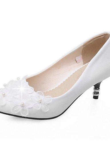 ZQ Zapatos de mujer-Tac¨®n Stiletto-Tacones-Tacones-Boda / Vestido / Casual / Fiesta y Noche-Semicuero-Negro / Azul / Rojo / Blanco , red-us12.5 / eu45 / uk10.5 / cn47 , red-us12.5 / eu45 / uk10.5 / c black-us7.5 / eu38 / uk5.5 / cn38