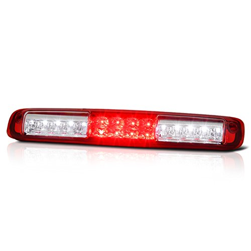 2000 Chevy Dually - VIPMOTOZ Full LED Third Brake Cargo Light Assembly For 1999-2006 Chevy Silverado 1500 2500 3500, Rosso Red Lens, Rear High Mount Stop Lamp