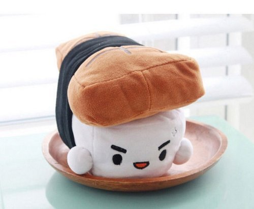 Japanese Food Sushi small Cushion Gift Plush Toy Decoration Pillow Hit Gift Toy ~Eel 6''