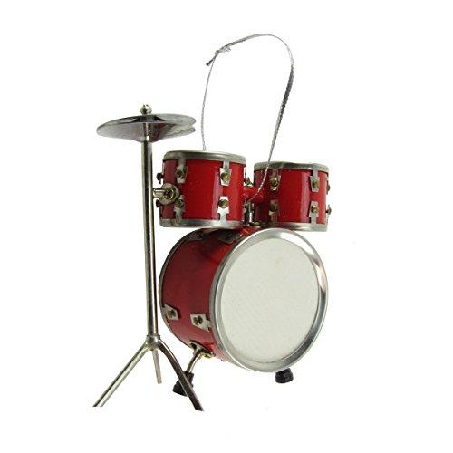 - TreasureGurus, LLC Miniature Drum Set Musical Instrument Realistic Ornament