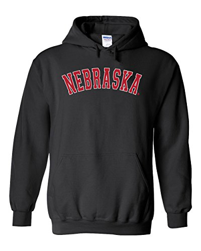 CornBorn Nebraska Arch Hooded Sweatshirt - Black - 4X ()