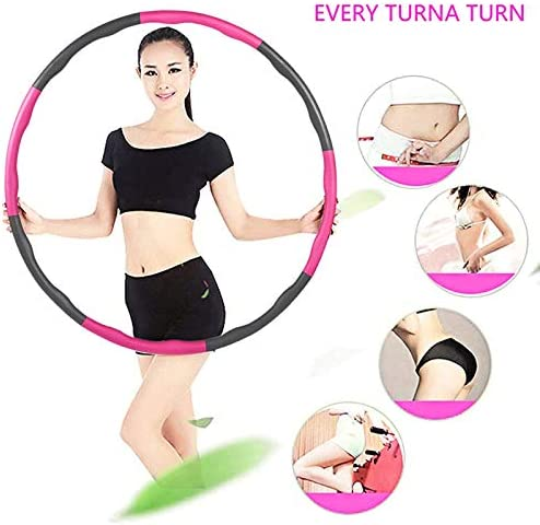 Gorssen Fitness Hoop, Exercise Hoop,Removable Eight-Section Foam Hula Ring, Weighted Foam Padded Fitness Hoop for Teenager and Adults Exercise, Dance Fitness 2