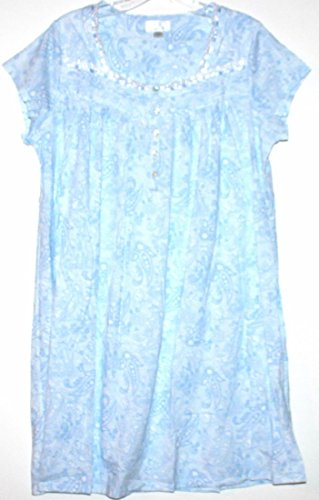 """Eileen West 36"""" Long Cap Sleeve Knit Nightgown with Pintu..."""