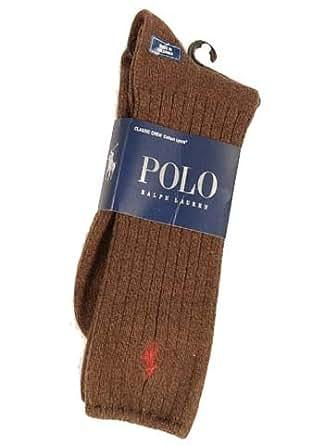 Polo Ralph Lauren Men's Classic Crew Socks (Bark) 10-13