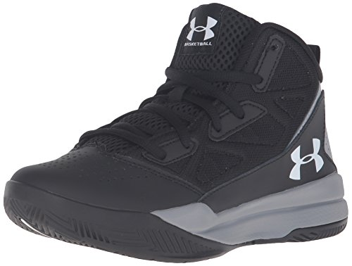 Under Armour Boys' Boys' Grade School Jet Mid, Black/Steel/White, 5 M US Big Kid