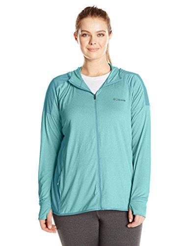 Columbia Women's Plus Saturday Trail Hoodie, Iceberg Heather, 3X