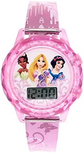 Disney Princess Girls Trendy Fashion Accessory 7' LCD Watch! Featuring Snow White, Rapunzel & Tiana! Batteries Included!