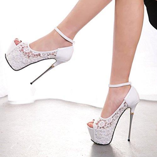 GetmorebeautyUpdate - Zapatos con tacón mujer Blanco - blanco