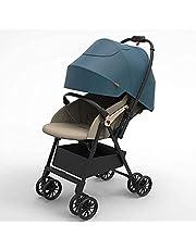 DUWEN Folding Portable Stroller, Nest Stroller | Baby Stroller with Height Adjustable Reversible Seat, Bassinet Mode, Extra Large Storage, Self Standing Fold and Lightweight Aluminum Frame,