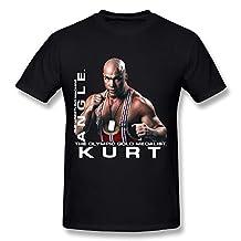 Men's Kurt Angle Action Figure Poster O-neck T Shirts Black