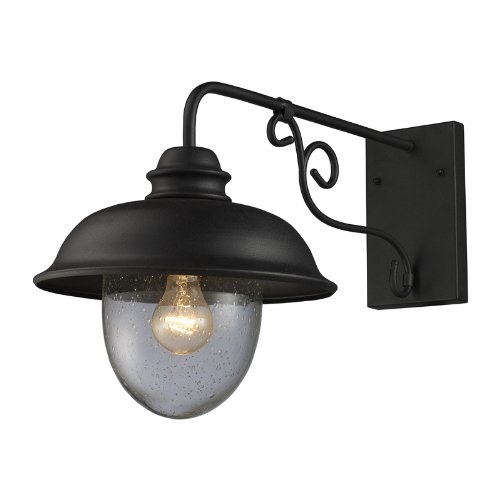 ELK 62001-1, Streetside Cafe Outdoor Wall Sconce Lighting, Matte - Charms Tiffany Outlet
