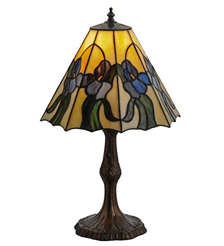 tained Glass Accent Table Lamp (Iris Stained Glass Fireplace Screen)