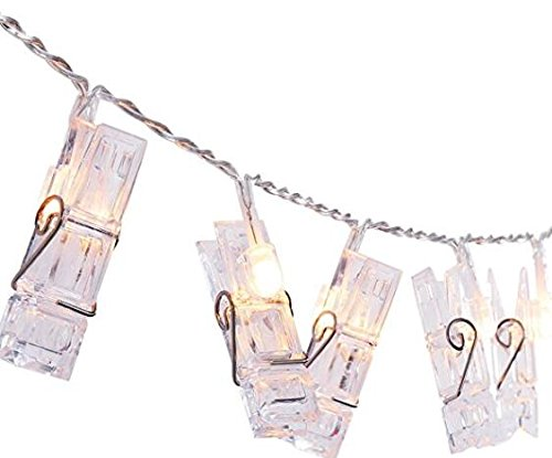 "AMIR LED Photo Clip String Lights, 40 LED Photo Clip Lights, 5M Starry Wall Decoration Light, Picture Lights, Hanging Memorable Photo, Notes, Postcard, Artwork, Warm White - 40 CLEAR PHOTO CLIPS: AMIR Photo Clip String Lights have 40 clear clips, total length 5m, each clips 12cm/4.5inches apart. Enough space for hanging multiple photos, postcards, or artworks, satisfying your desire to show your favorite views. STURDY CLIP&SIMPLE INSTALLATION: The clips of the clip string light are in good quality. Each clips can nip photos or other small items tightly and no worry about falling off. Simple installation for decorate walls, windows, book shelves, mirror etc. TWO MODES DESIGN: The clip string light has two modes, normal mode and flashing mode. The flickering light with ""One button operation design"" will provide you a romantic environment. - patio, outdoor-lights, outdoor-decor - 41seBXsR%2BbL -"