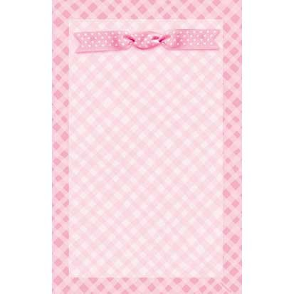 - Baby Girl Imprintable Announcement Kit, 50ct
