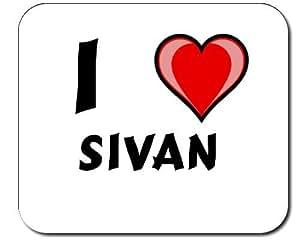 """Almohadilla con estampada de """"Te quiero"""" Sivan (nombre de pila/apellido/apodo)"""