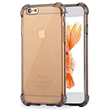 iPhone 6 Plus Case, iPhone 6S Plus Case, Ibarbe Slim Clear TPU Protective Heavy Duty Case Fit for Apple iPhone 6 Plus (2014) / 6S Plus(2015) 5.5 inch gray