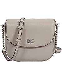 Michael Kors Mott Leather Crossbody - Pearl Grey