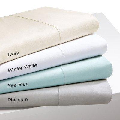 Sleep Philosophy SHET20-249 300 Thread Count Liquid Cotton Sheet Set, Queen, Seafoam
