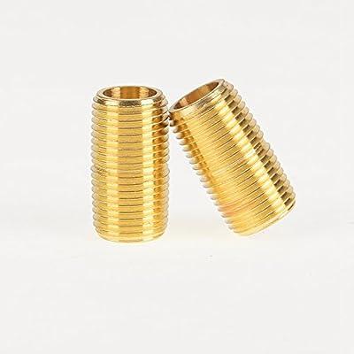 "4pcs 2pcs 1/8"" 1/4"" 3/8"" 1/2"" NPT Male Brass Pipe Fitting Close Nipple"