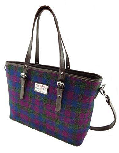 Grand sac à bandoulière Spey pour femmes authentiques de Harris Tweed dans différentes couleurs Lb1028 Col54 chiné à carreaux