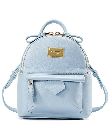EMINI HOUSE Lady's Backpack Genuine Leather Mini-Light Blue by EMINI HOUSE