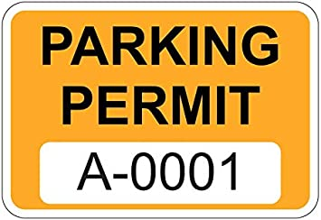 A0151 to A0200 Eichelman Designs Yellow Parking Permit Window Stickers Decals Multiple Number Sets Available