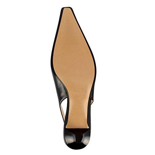 Evita Shoes Lia Damen Sling Pumps Glattleder Schwarz