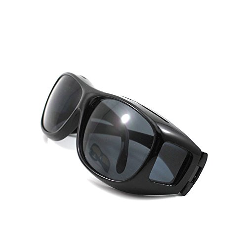 Unisex HD Night Driving Glasses Vision Care Eyes Protect Wrap Around Sunglasses Black (Vision Care)